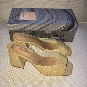 Jeffrey Cambell straw heel